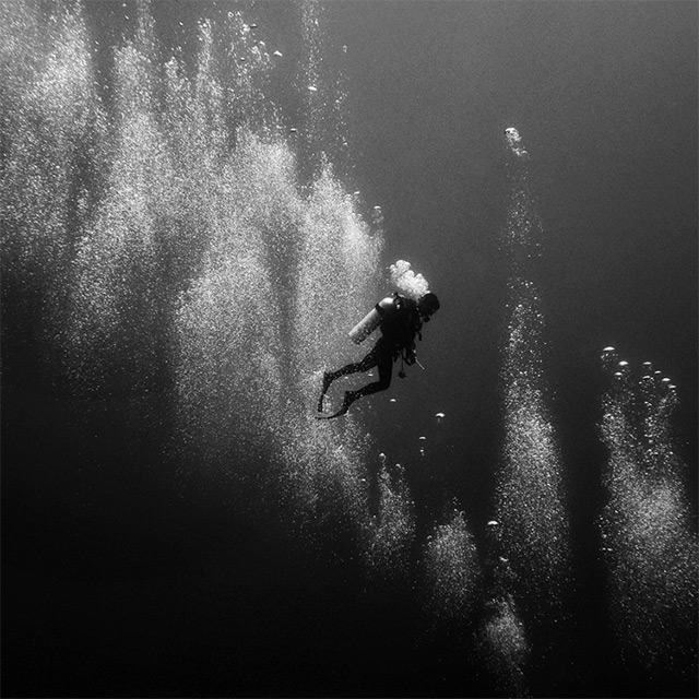 Black and White Underwater Photography by Hengki Koentjoro underwater ocean Indonesia black and white