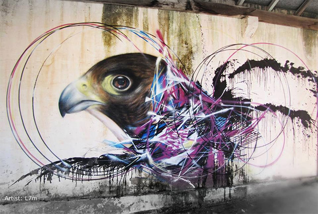 Bird Street Art On The Streets Of Brazil By L7m Colossal