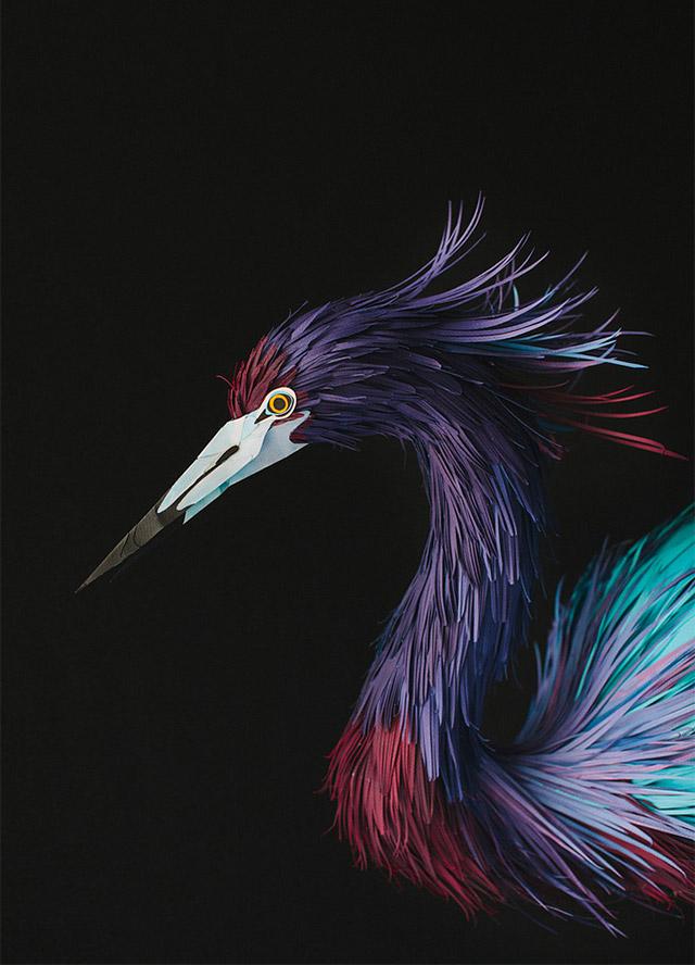 New Paper Birds from Diana Beltran Herrera sculpture paper birds