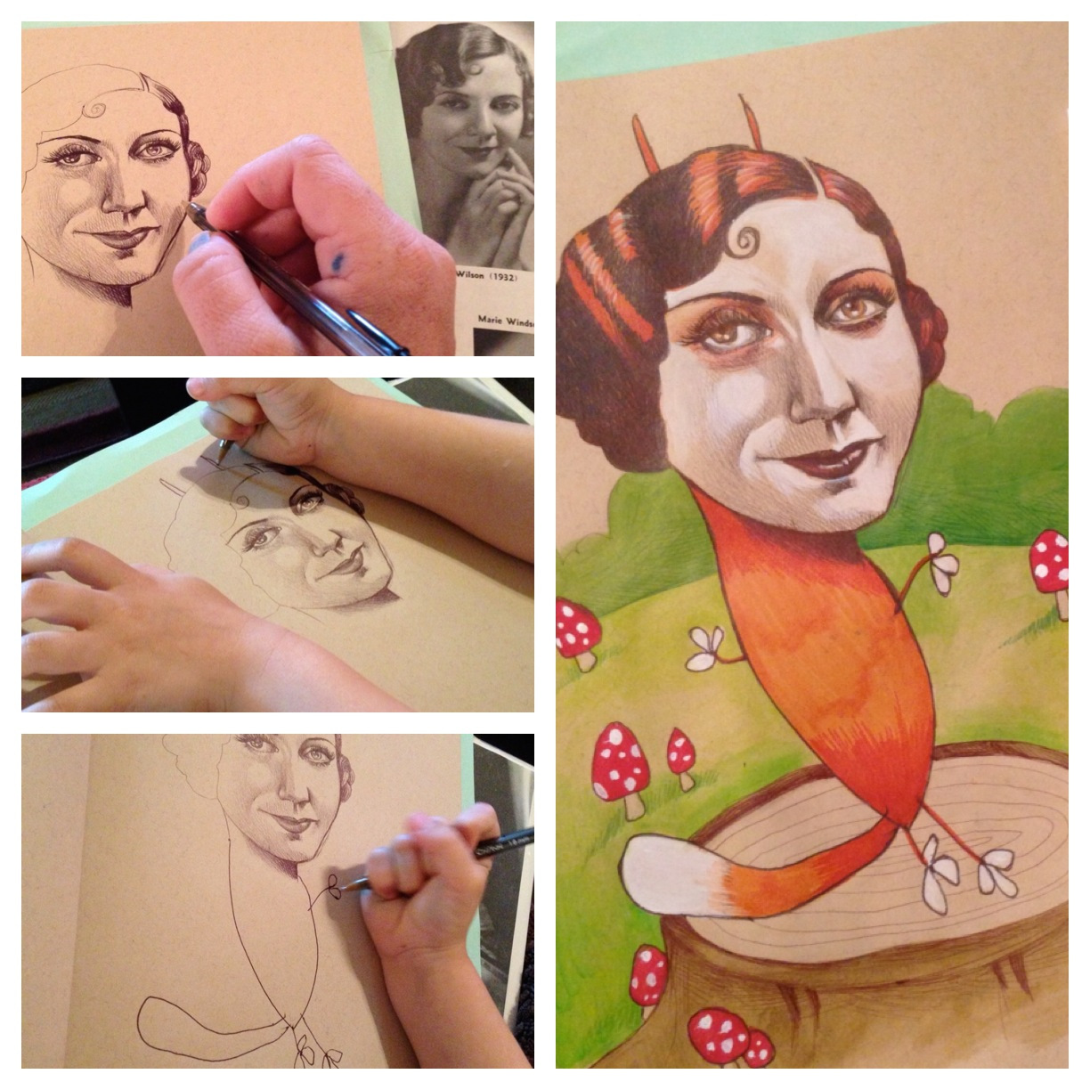 Artist Collaborates with her 4 Year Old Daughter to Create Amazing Illustrations kids illustration drawing