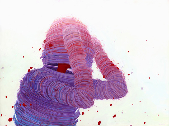 Whirling Human and Topographic Forms of Color Painted by Brendan Monroe painting