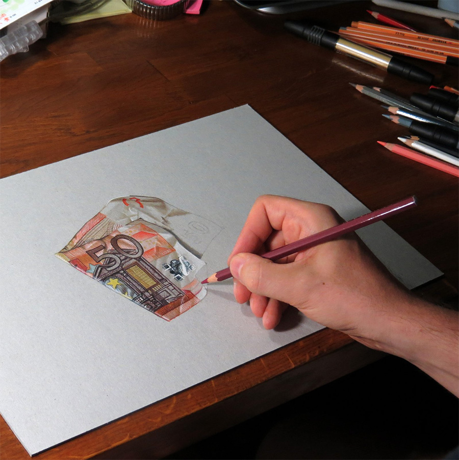 Realistic Color Drawings of Everyday Objects by Marcello Barenghi  hyperrealism drawing