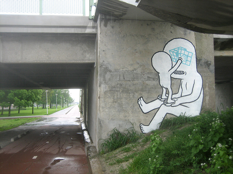 The Bizarre Street Art of Daan Botlek street art illustration