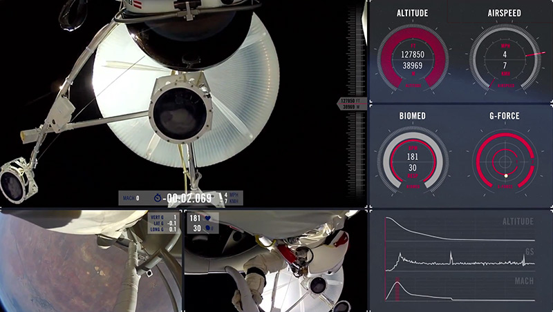 Falling from Space: Felix Baumgartners Leap from 128,000 Feet stunts space