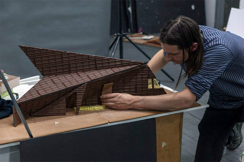 Gingerbread Art Museums by Caitlin Levin and Henry Hargreaves food candy architecture