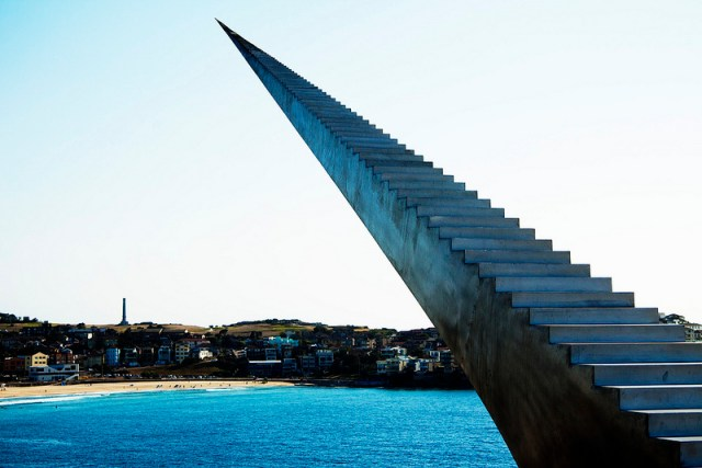 An Infinite Staircase by David McCracken sculpture