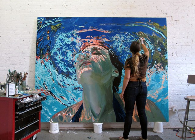 Beneath the Surface: Sublime Underwater Portraits by Samantha French swimming portraits painting