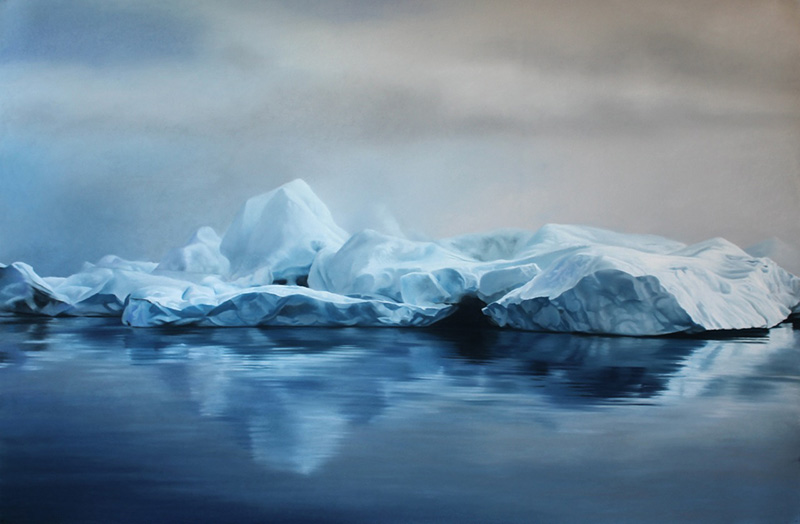 Exploring Climate Change through Art: Giant Pastel Oceanscapes and Icebergs Drawn by Zaria Forman pastel landscapes icebergs Greenland climate