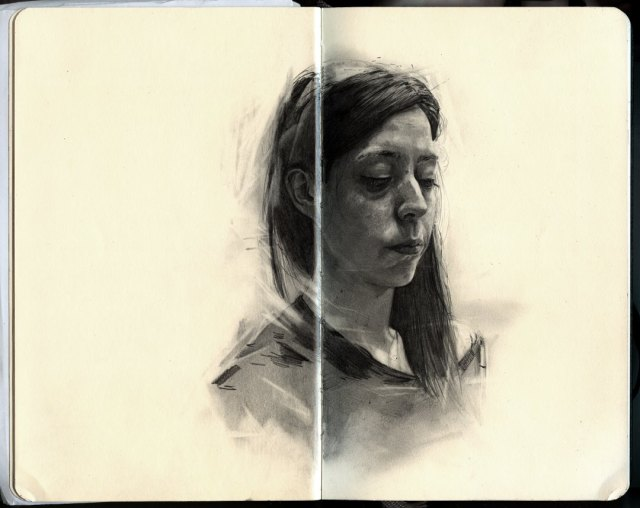 Graphite Portraits of Friends by Thomas Cian portraits drawing