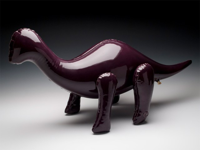 Ceramic Sculptures by Brett Kern Look Like Inflatable Toys toys sculpture dinosaurs ceramics