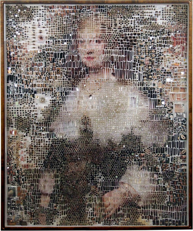 Dutch Paintings Recreated Using Thousands of Photographic and Scientific Specimens sculpture multiples collage