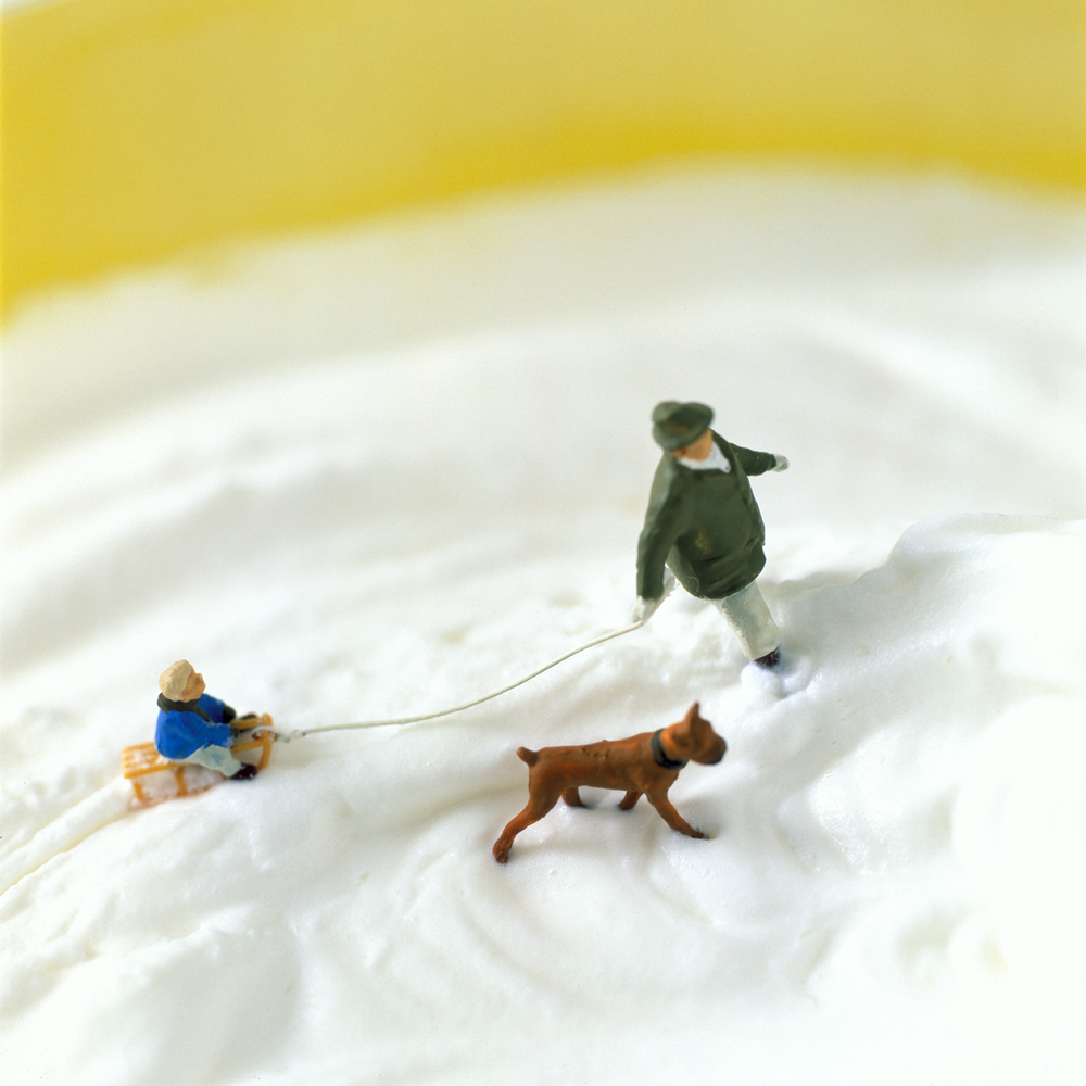 Culinary Photographers Create Edible Backdrops for a World of Miniature Inhabitants miniature food dioramas