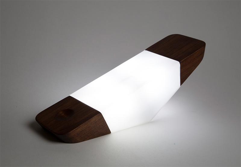 Prism: A Wireless Nightlight That Tilts like a Seesaw lighting