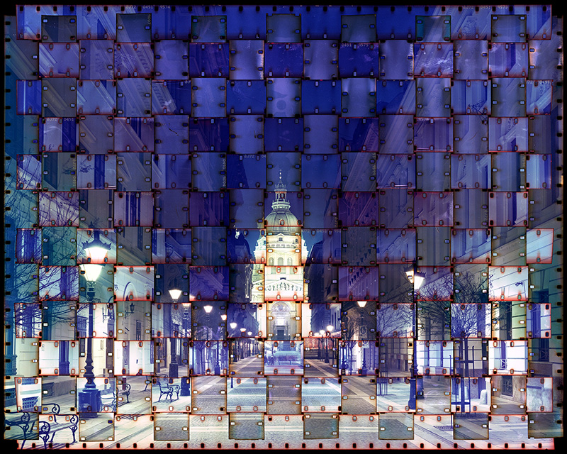 Photographs Made from Woven Film Strips by Seung Hoon Park weaving cityscapes