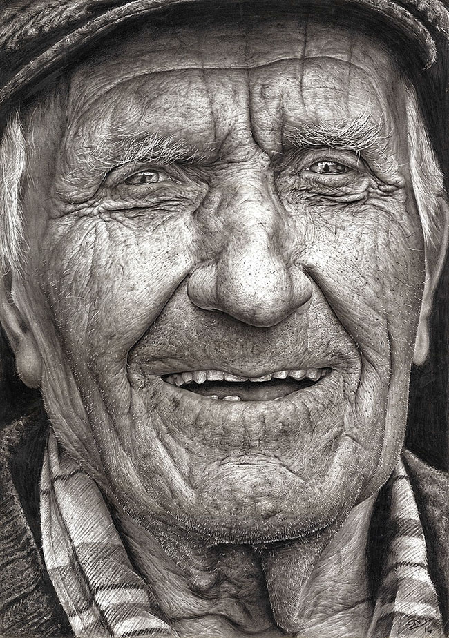 Sixteen Year Old Artist Wins National Art Competition with Masterful Hyper Realistic Pencil Portrait portraits illustration drawing