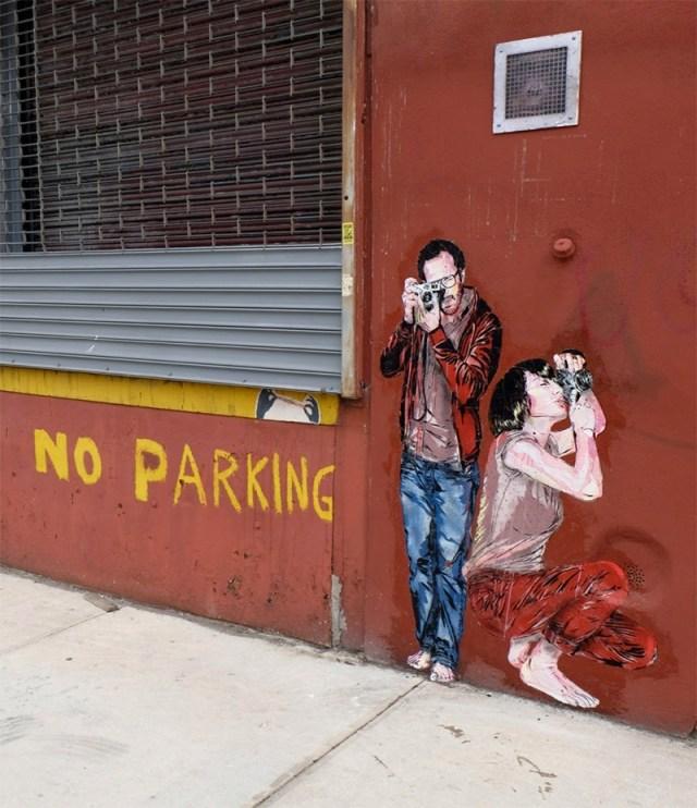 Detailed Stencil Street Art by Jana & JS street art stencils