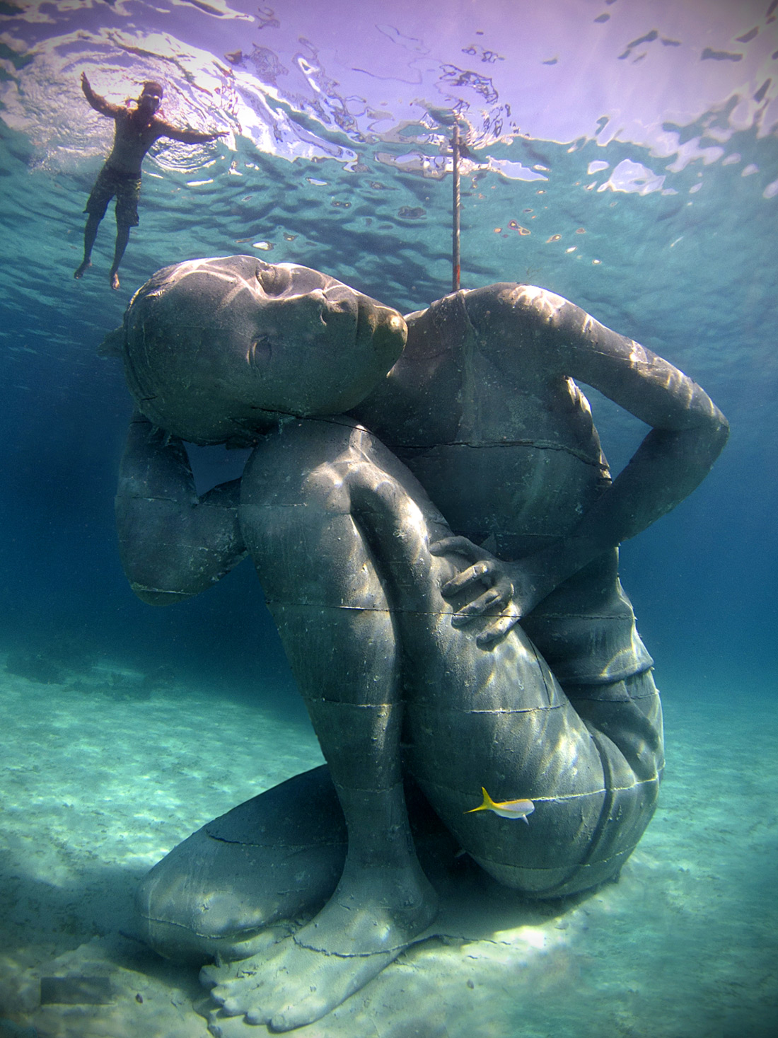 Ocean Atlas A Massive Submerged Girl Carries The Weight