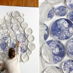Hand Painted Ceramic Plate Installations By Molly Hatch Colossal