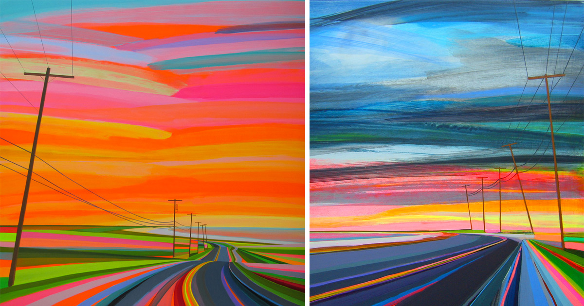 Neon Sunsets And Technicolor Landscapes Painted By Grant