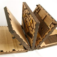 This Incredible Wooden Book Is a Series of Puzzles That Have to Be Solved to Continue Reading