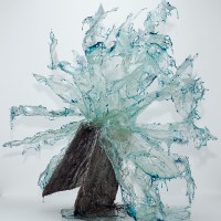 Liquid Sculptures Cast in Resin Glass