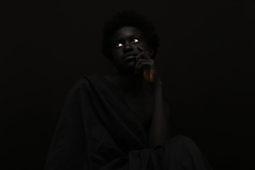 """Images from the series """"The Darkest Colour, """"photographed by Yannis Davy Guibinga, featuring Tania Fines and Madjou Diallo, and with bodypainting by Jean Guy Leclerc. All images via Yannis Davy Guibinga."""