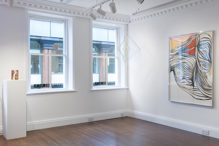 """Installation view of Square Wave in the exhibition """"In the Manner of Smoke"""" at Alice Black Gallery"""