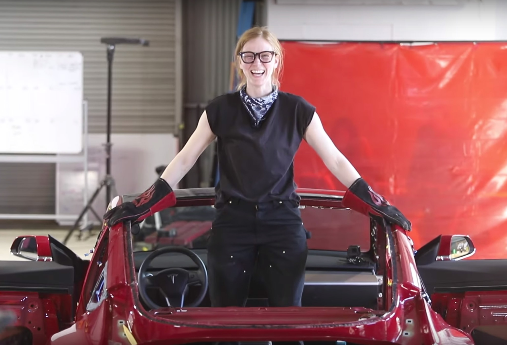 Inventor Simone Giertz Converted Her Tesla Into A Truckla