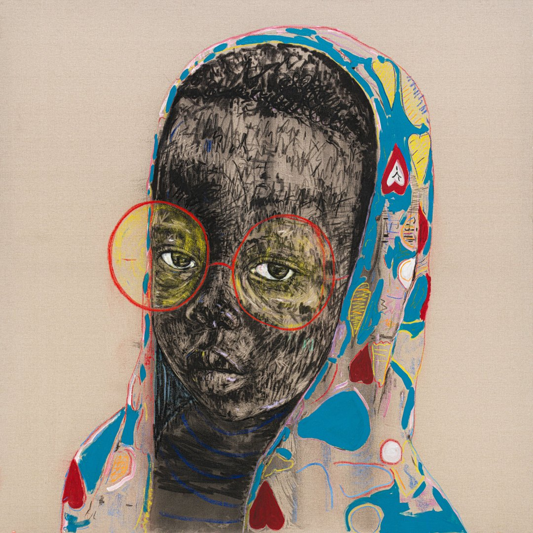 Mixed-Media Portraits by Nelson Makamo Reflect Childhood Innocence and Wonder
