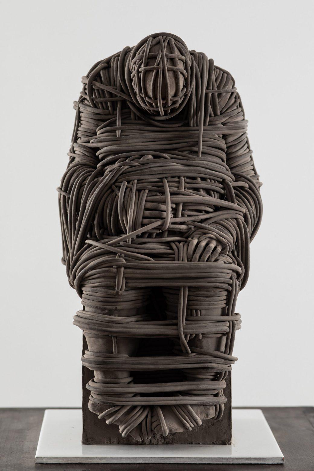 "Khaled DAWWA, ""Liberté"" (2019), terracotta, 35 x 16 x 13 centimeters"
