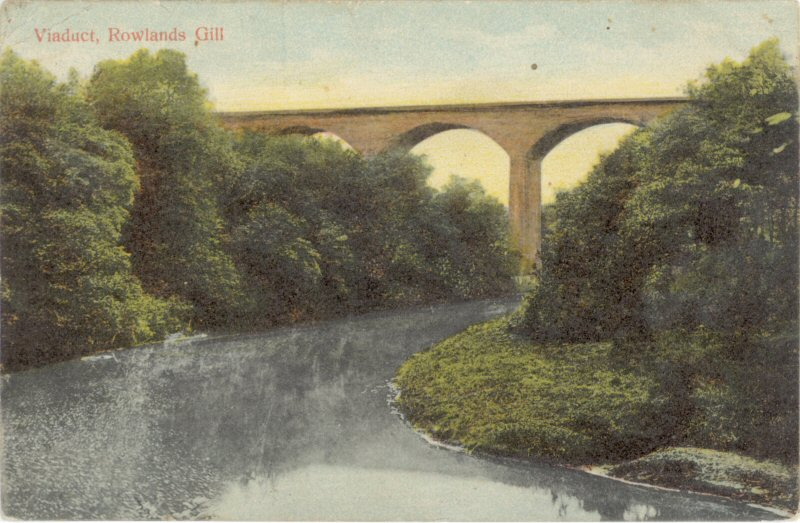 Viaduct Rowlands Gill 1904 This Is Gateshead