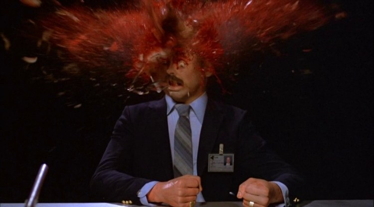 Scanners head explosion