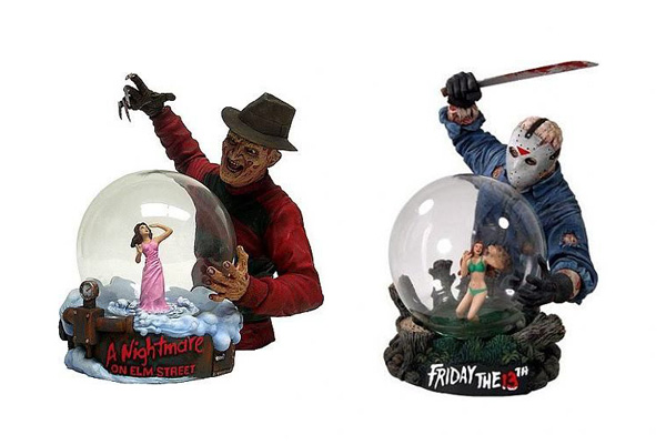 Freddy Krueger and Jason Voorhees Snow-globes
