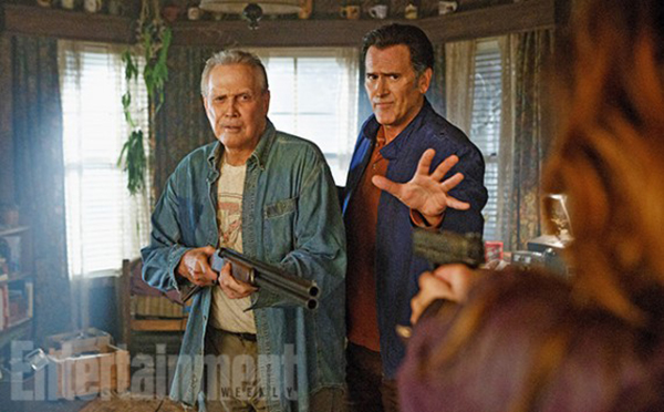 Bruce Campbell and Lee Majors in Ash Vs Evil Dead