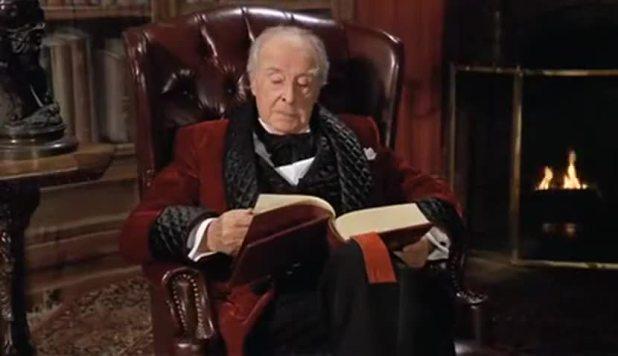 Houseman reading ghost stories- scrooged