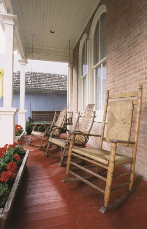Relax on the front porch at the Kintner House Inn