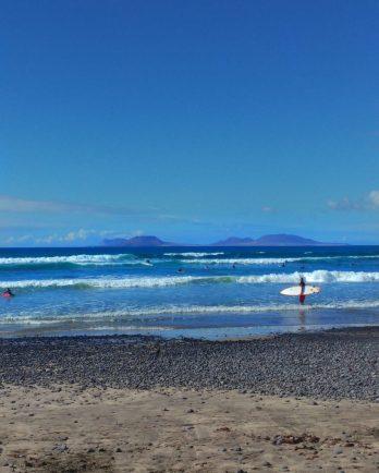 Surfista a Famara