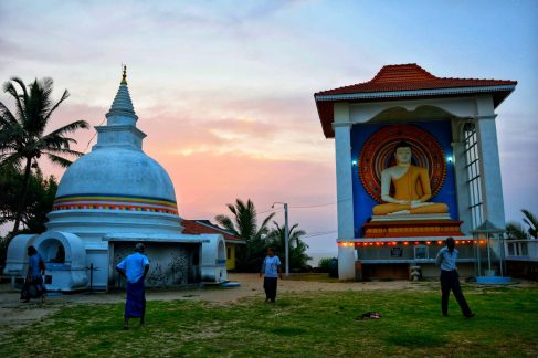 La pagoda di Unawatuna