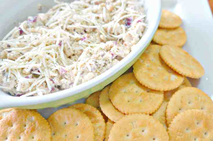 Basil Pesto Chicken Salad Dip