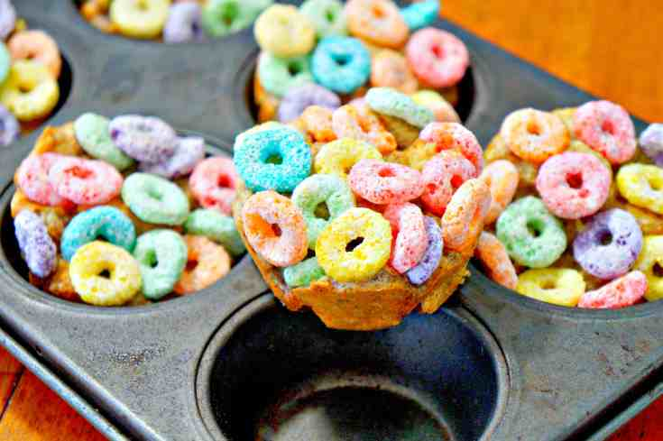 Muffin Tin Fruit Loop French Toast