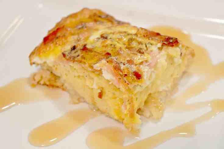 Maple Pancake Breakfast Casserole