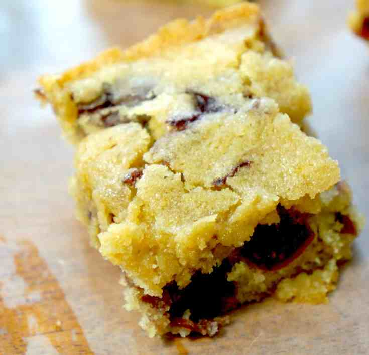 Sour Cherry Blondies