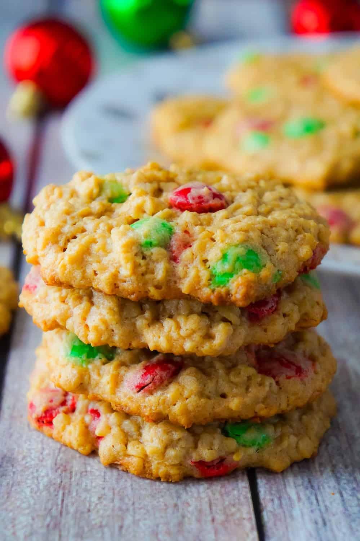 Christmas Monster Cookies - This is Not Diet Food
