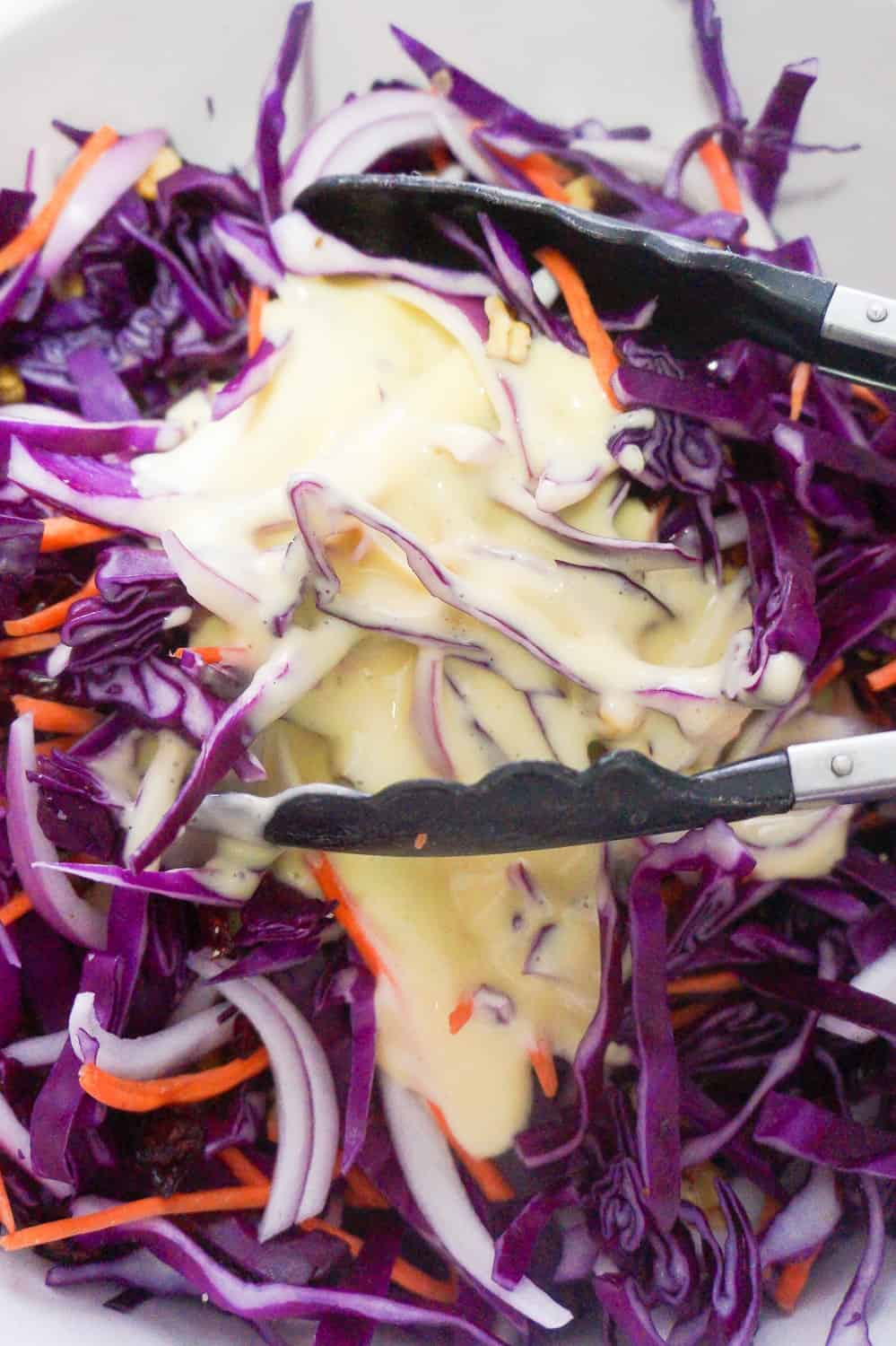 creamy coleslaw dressing before mixing