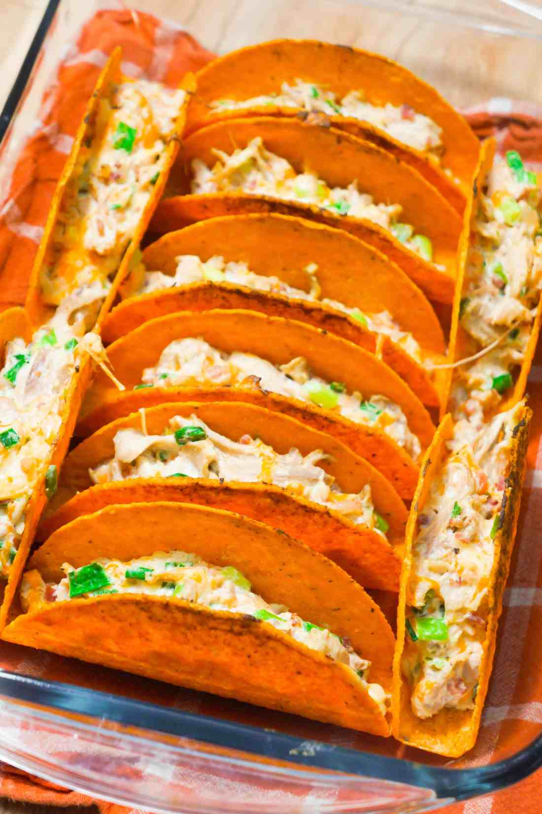 Cream Cheese Bacon Chicken Tacos are an easy dinner recipe.