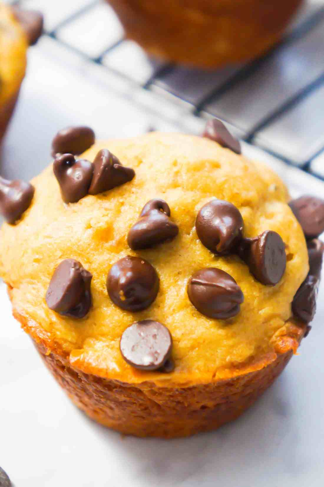 Easy Breakfast Idea. Peanut Butter Banana Muffins.