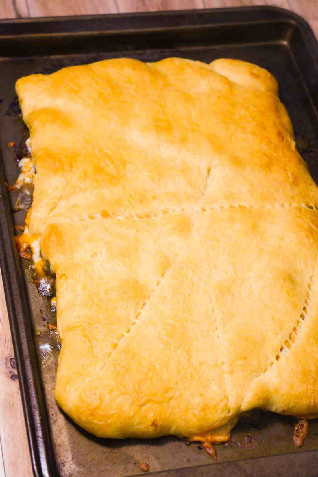 Philly Cheese Steak Crescent Bake is a quick beef dinner recipe.