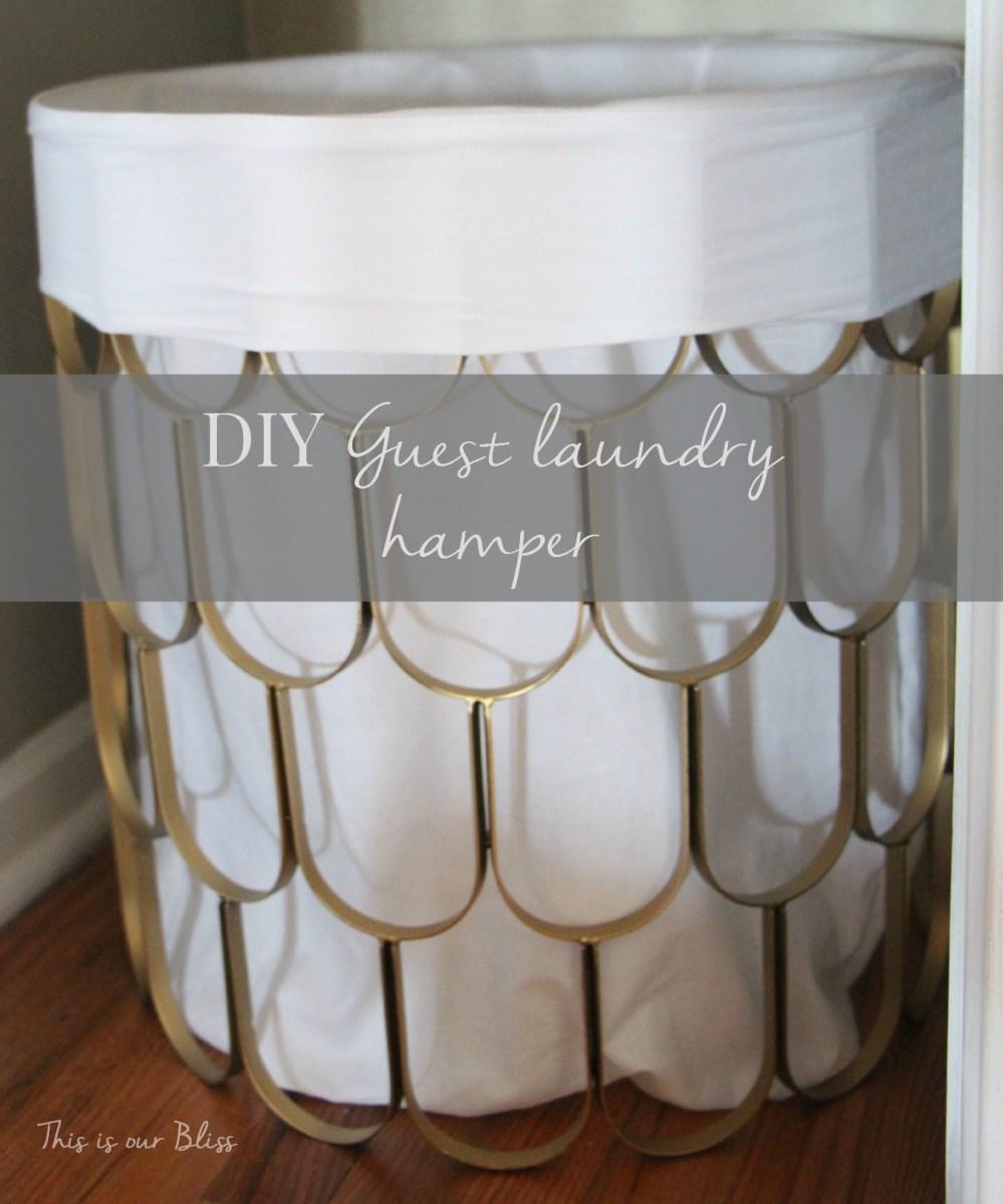 Great Find + Quick Fix #2 [DIY hamper]