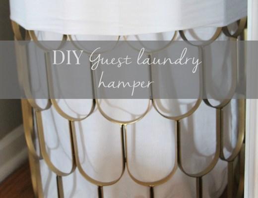 DIY Guest laundry hamper - linen closet details - linen closet makoever - This is our Bliss