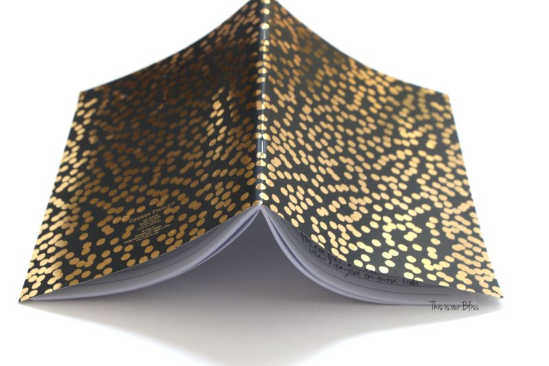 black & gold foil polka dot journal turned art - guestroom art - gallery wall - This is our Bliss